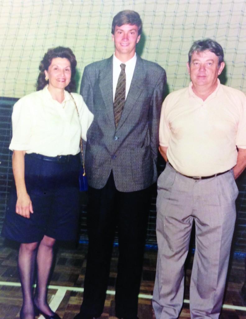 Formatura CC, em 1992, com seus pais: Sarita Lacau da Silveira e Álvaro M. da Silveira Filho.