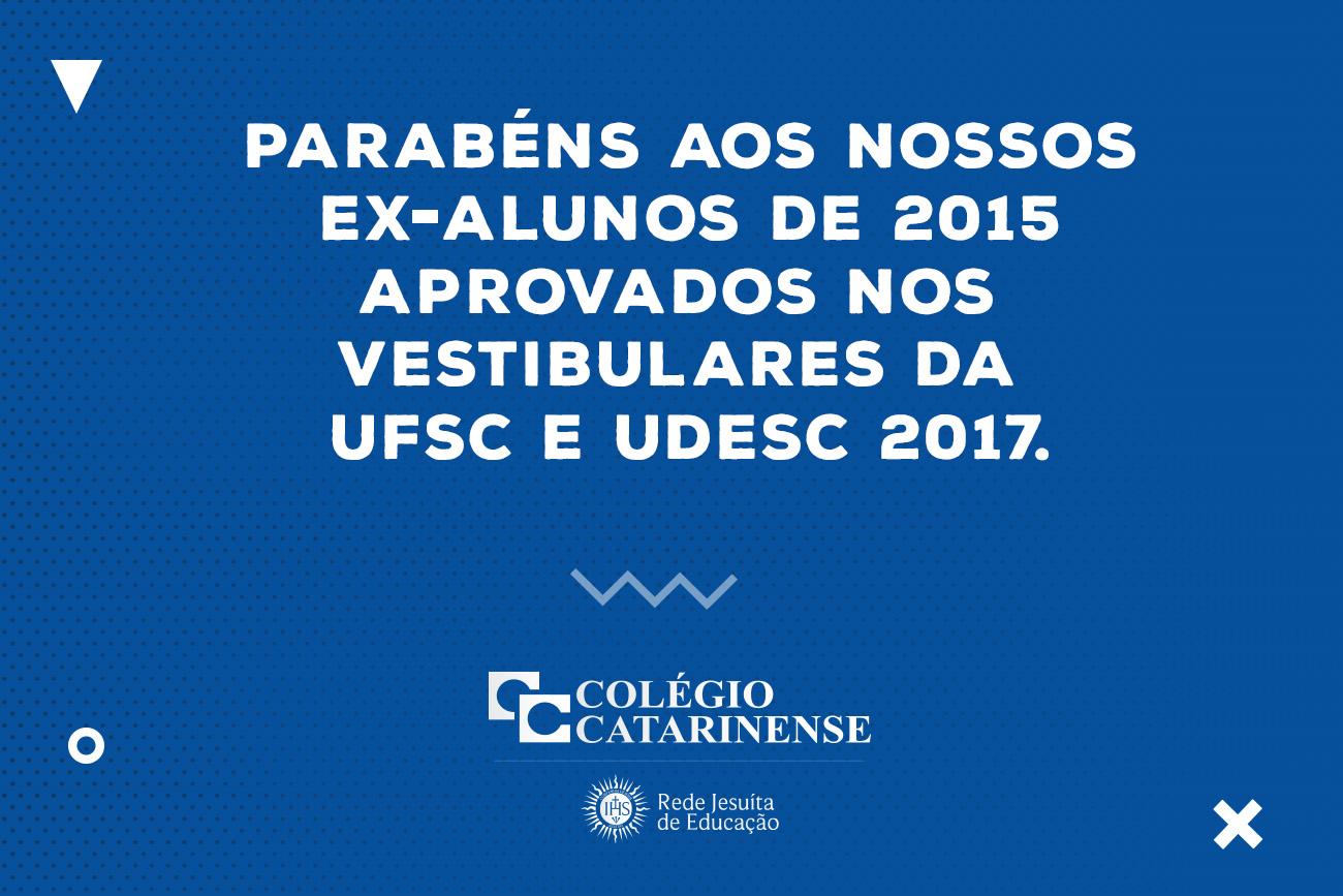 ex-alunos 2015 cassificados vestibular ufsc e udesc 2017