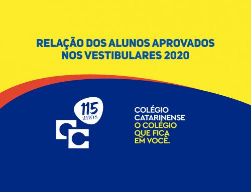 Relação dos Alunos Aprovados nos Vestibulares 2020